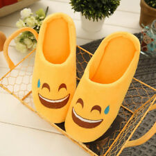 Fashion Emoji Women Slippers Soft Bottom Silent Cotton Slippers Cute Kid's Shoes