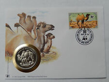 Numisbrief 30Jahre WWF 1985 Mongolia Kamel