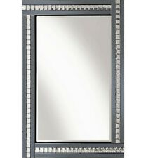 Elegant bevelled Glass Wall Mirror- Smoke Crystal 120cm x 80cm Bedroom/home deco