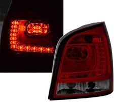 LED taillights set 6R Style for VW POLO 9N 9N3 05-09 in RED SMOKED finish