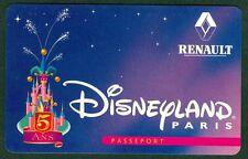 PASSEPORT  DISNEYLAND PARIS 5 ANS RENAULT TRES  BON ETAT N°25