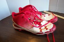Under Armour Red Heater Basketball Shoes Cleats Men's Size 14 Athletic See Pics