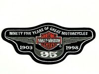 New Harley Davidson 95th Reunion Collectible Motorcycle Patch 1903-1998 Vintage