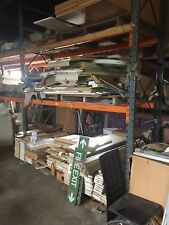Used heavy duty dexion pallet racking with 2 shelves