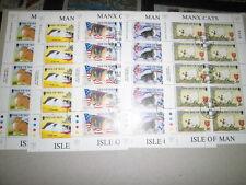 GB - Man, Mi-Nr. 668-672, Kleinbogen, gestempelt, Katzen 1996 (Klbolager)