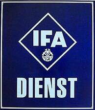 BLECHSCHILD DDR IFA DIENST Werkstatt Werkstätte KFL Reparatur OST KULT Nr.275