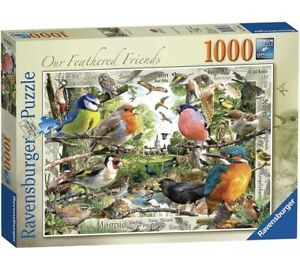 Ravensburger Our Feathered Friends 1000 Piece Jigsaw Puzzle, Birds Game Animal