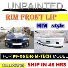 CARKING 99-06 UNPAINTED BMW E46 M-TECH M-SPORT H style FRONT LIP SPLITTER