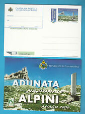 CARTOLINA POSTALE SAN MARINO 2006 OMAGGIO ALPINI ADUNATA ASIAGO NUOVA MNH** VEDI