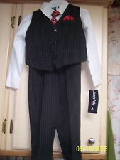 NWT Boy's Size 4T 4-Piece Suit By Happy Fella JCPenney