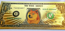 Gold Plated Dogecoin Banknote from the Bank of Doge! Rare Item  FAST UK SELLER!