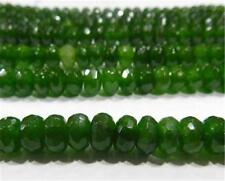 "5x8mm Faceted Emerald Abacus Loose Beads Gemstone 15""##CH550"