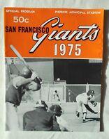 VINTAGE 1975 1975 San Francisco Giants Official Souvenir Program (Excellent)