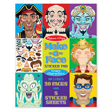Melissa & Doug Make-a-Face Sticker Pad - Crazy Characters