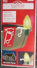 100 All Purpose Light Holder Clips Christmas Gutter Shingle Roof Mini C7 C9 Rope