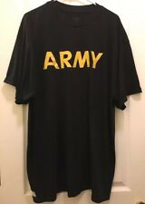 U.S. Army Black And Yellow PT Shirt XXL - Preowned