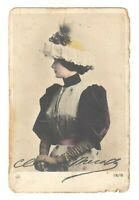 Real Photo Cleo de Merode Antique Postcard French Dancer Fashion RPPC /173