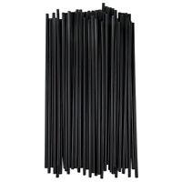Black Unwrapped Slim Collins Straws 500 Pack