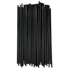 "1000 7.5"" Black Unwrapped Coffee Cocktail Beverage Drink Stirrers / Sip Straws"