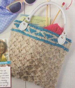 Cable Bag With Fair Isle Pattern Aran KNITTING PATTERN - Measures 27x24cm