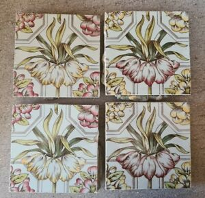 Aesthetic Floral Print and Colour Tiles. C1890