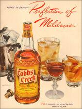 1941 vintage alcoholic beverage AD COBBS CREEK Blended Whiskey 021218