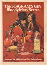 1973 Vintage ad for Seagram's Gin `Bloody Mary Secret Costume Bottle  (051417)