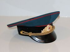 Peaked Cap Soviet Red Army Military Uniform Armed Forces Combat Vintage USSR