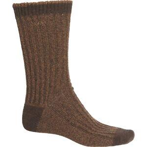 Sorel Men's Merino Wool Crew Socks Bronze Brown Fits Shoe size 6-12 -Ret. $18
