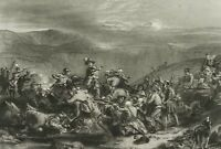 GREATBACH, Schlachtszene v. Battle of Drumclog, Schottland, 19. Jh., Stahlst