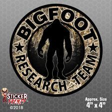 "Bigfoot Research Team ""CAMO"" Sticker - Sasquatch Yeti Car Truck Window Decal"