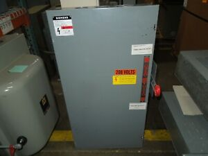 Siemens NF354DTK 200A 3P 600VAC Double Throw Not Fusible Manual Transfer Switch