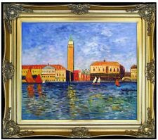 Framed, Renoir The Doges Palace, Venice Repro. Hand Painted Oil Painting 20x24in