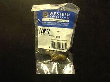 (1) WESTERN BRASS VALVE  Model 206 1/4X1/4 MALE NPT LH B SIZE ACETYLENE #1107