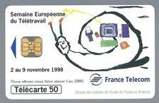Télécarte carte téléphonique F923 Semaine Européenne Télétravail 1998