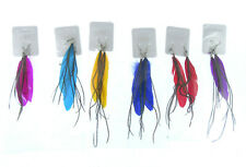 One Pair Of 4 Inch Drop Feather Earrings from the Uk (03)