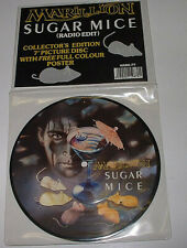 Marillion, Sugar Mice, NEW/MINT UK PICTURE DISC 7 inch vinyl single with POSTER