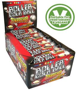 ZED CANDY - Roller Cola Ball JawBreakers VEGAN HALAL Retro Sweets