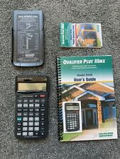 Calculated Industries Qualifier Iiimx 3440 Financial Calculator manuals & case