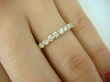 0.55CT T.W. DIAMOND THIN WEDDING BAND 14K YELLOW GOLD SHARED PRONGS, SIZE 6.75