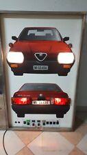 Pannello Auto Scuola Alfa Romeo 164 tb insegna luminosa scuola guida vintage