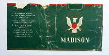 OLD VINTAGE BELGIUM CIGARETTE - TOBACCO PACKET LABEL. MADISON