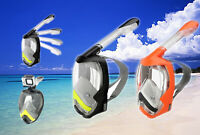 Foldable Full Face Plongée Snorkeling Masque Swimming Scuba pour GoPro BS5