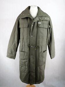 Mens CAVIN KLEIN Khaki Parka Jacket Size L Padded Coat Longline Green Waterproof