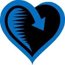 30 Custom Blue Love Return Personalized Address Labels