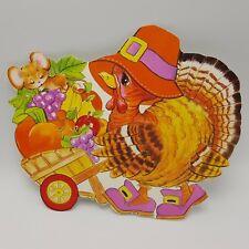 Turkey Thanksgiving Cut Out Cut Pilgrim Mouse Decoration