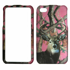 Pink Camo Deer Mapple Case for Apple iPhone 4 4S Protect Phone Cover .