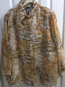 Maggie Sweet Shorts Blouse Top Set Womens Size 1X Travel Cruise ANIMAL KINGDOM