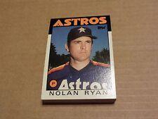 Houston Astros Nolan Ryan 1986 Topps Team Set