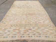 Vintage Moroccan silk sabra Kilim Kelim Rug shabby chic rug country home boho